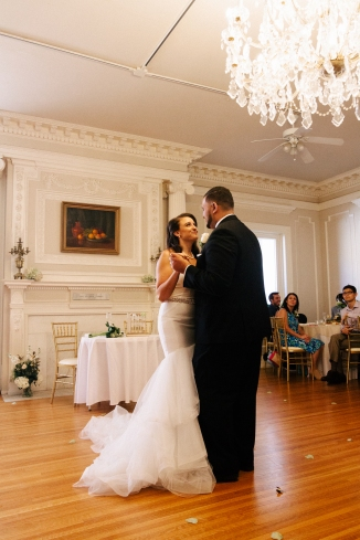 bride and groom share their first dance-1-2