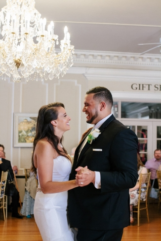 bride and groom share their first dance-1
