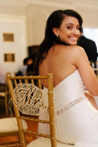 bride looks over her shoulder-1