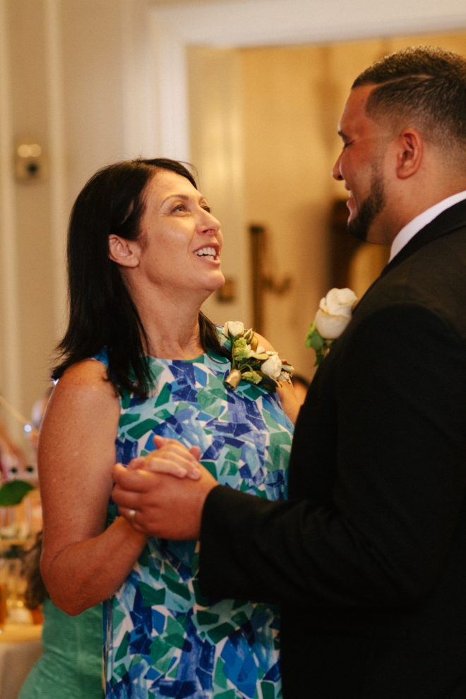 groom dances with his mother close up-1