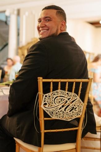 groom looks over his shoulder-1