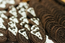 oreos with tuxes at the cookie bar